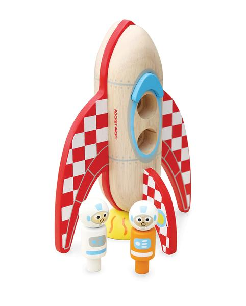 Space 'Rocket Ricky' Wooden Toy - Retro Kids