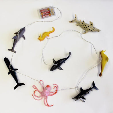 String Lights with Sea Creatures - Retro Kids