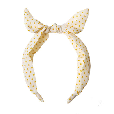 Retro Yellow Spotty Hairband