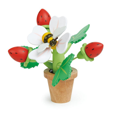 Wooden Strawberry Flower Pot Toy