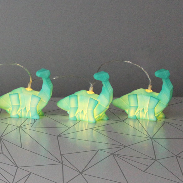 Green Diplodocus Dinosaur String Lights