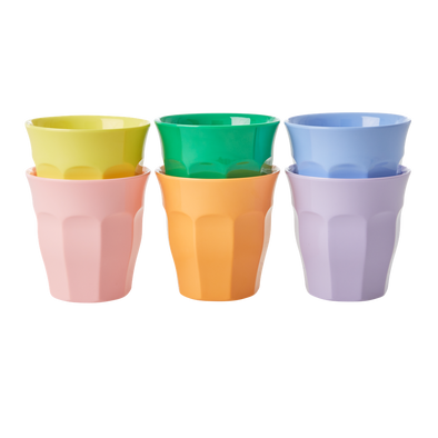 Melamine Cups Pack of 6 in Summer Brights