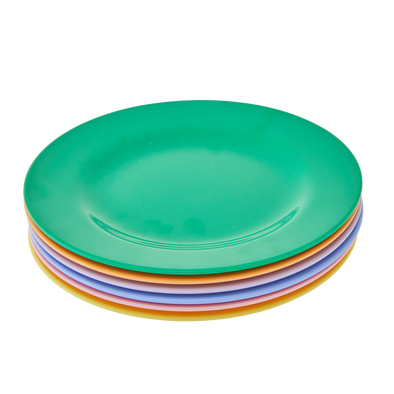 Melamine Plates Pack of 6 in Summer Brights - Retro Kids