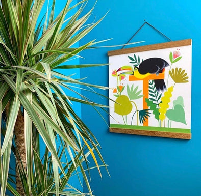T for Toucan Alphabet Print