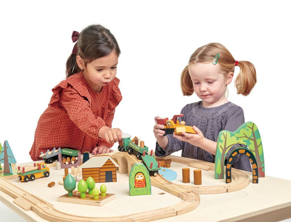 Wild Pines Wooden Train Set