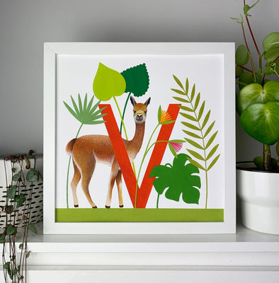 V for Vicuna Alphabet Print