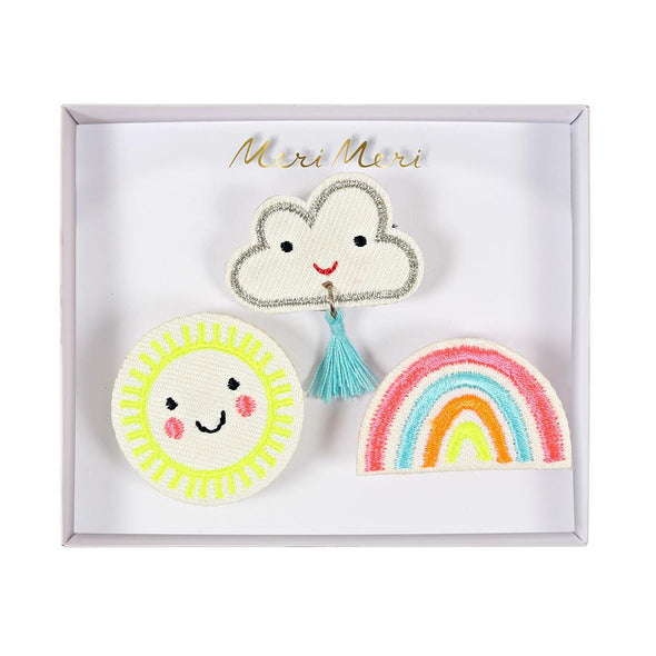Weather Embroidered Brooches