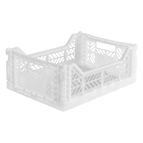 Ay-Kasa Folding Crate in White - Lillemor Lifestyle