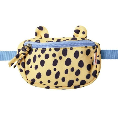 Retro Yellow Cheetah Print Bum Bag