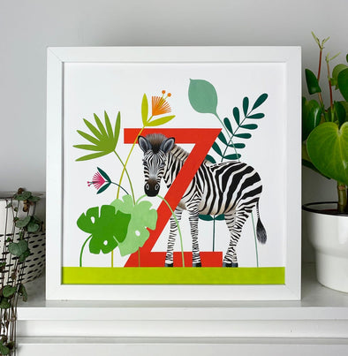 Z for Zebra Alphabet Print