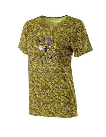 229372 - Ladies Short Sleeve Space Dye Tee Shirt