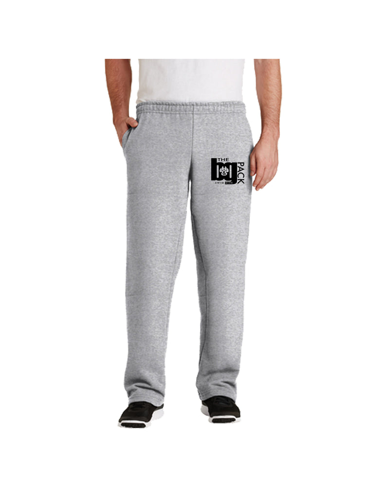 12300 - Gildan Grey DryBlend Open Hem Sweatpants
