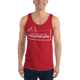 RED  Unisex Tank Top T-Shirt with White Logo