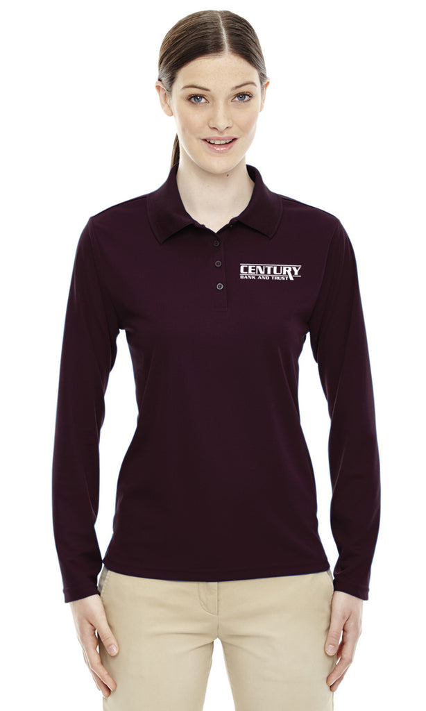 78192 - Ash City Womens Performance Long Sleeve Pique Polo