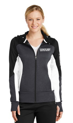 LST245 - SportTek Ladies Colorblock Fleece Full Zip