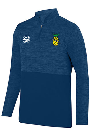 2908 Augusta tonal heather quarter zip