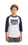 YT200 - SportTek Youth Colorblock Raglan Tee