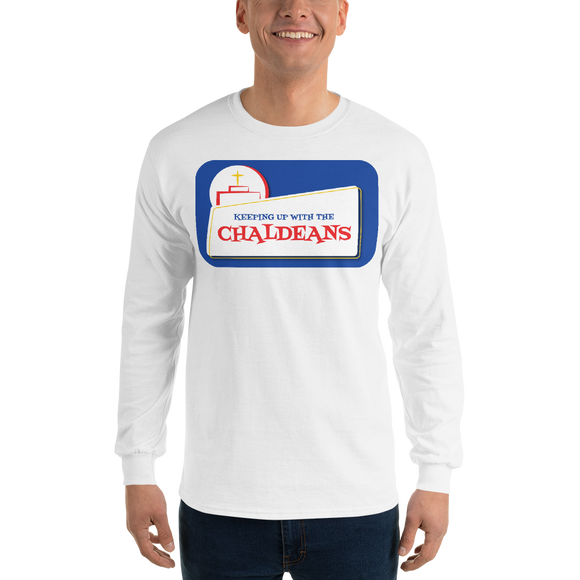 WHITE  Unisex Long Sleeve T-Shirt with White Logo