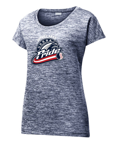 SportTek LST390 Ladies PosiCharge Electric Heather Sporty Tee