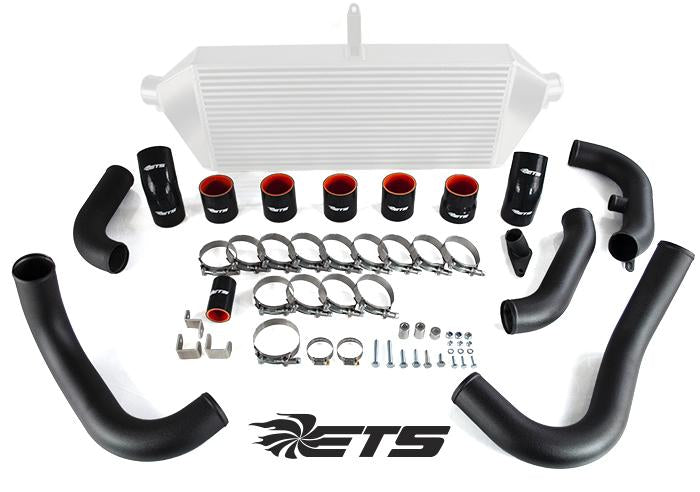 ETS 08-14 Subaru STI Intercooler Piping - Wrinkle Black