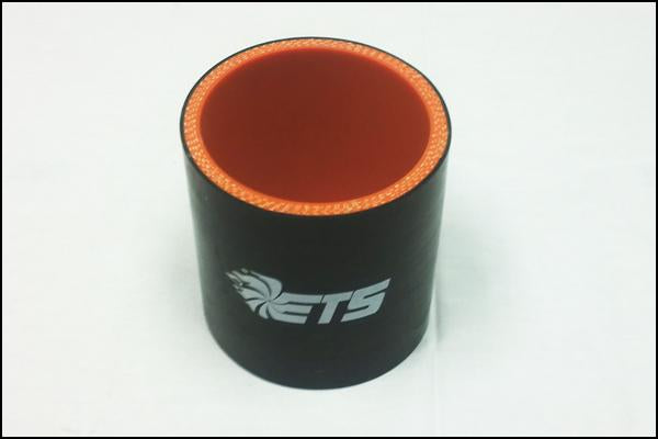 "ETS 4"" Straight Black Silicone Coupler"