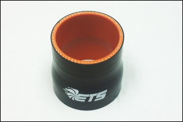 "ETS 3"" - 3.5"" Straight Reducer Black Silicone Coupler"