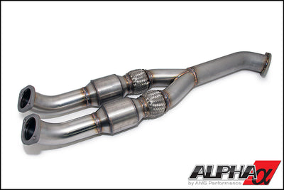 ALPHA PERFORMANCE R35 GT-R 90MM CATTED MIDPIPE - TopSpeed Motorsports - 1