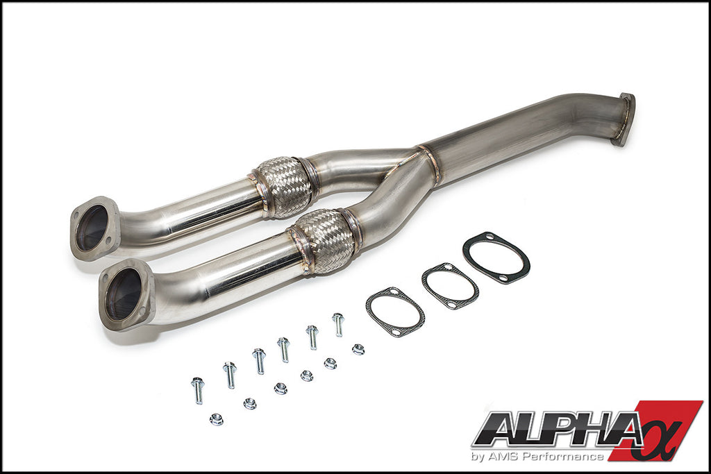 ALPHA PERFORMANCE R35 GT-R 90MM MIDPIPE / Y-PIPE - TopSpeed Motorsports - 1
