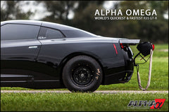 "Alpha Performance R35 GT-R 15"" Drag Wheel & Slick Package"