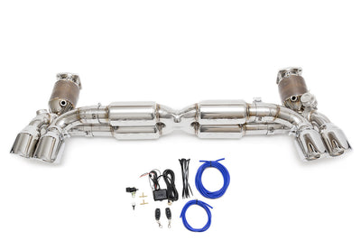 Fabspeed Porsche 991 Turbo / Turbo S Valvetronic Supersport X-Pipe Exhaust System