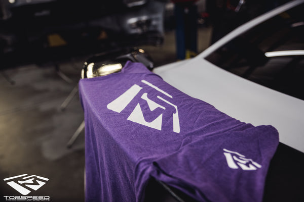 Emblem Shirt - Purple/White