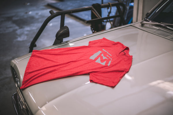 Emblem Shirt - Red Heather/Gray