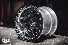 "TSM 15"" Beadlock Drag Wheel & Slick Package for R35 Nissan GT-R"
