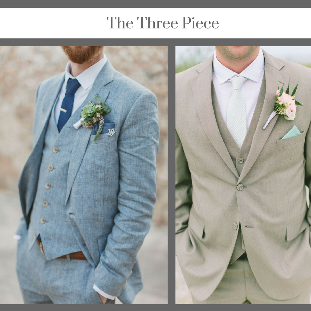 Three piece suit groom