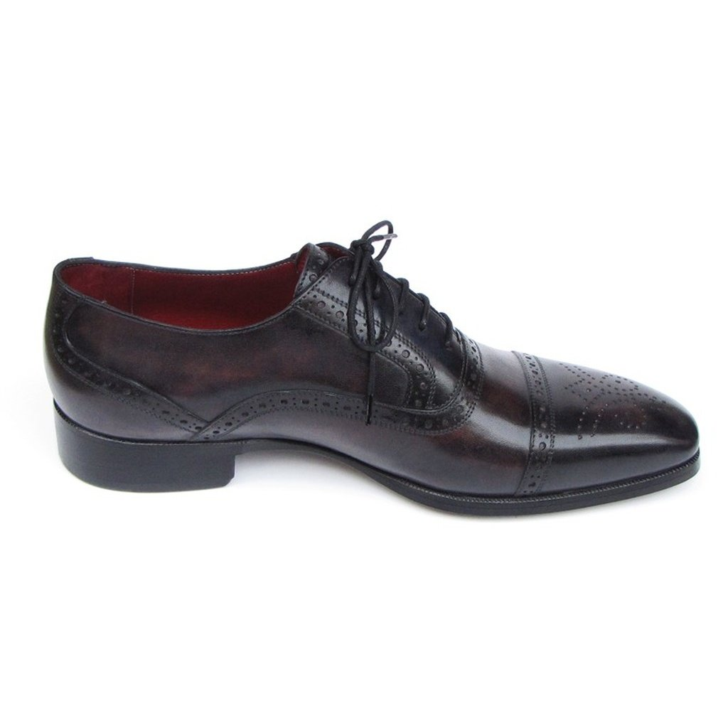 Men's Captoe Oxfords Bronze & Black Shoes