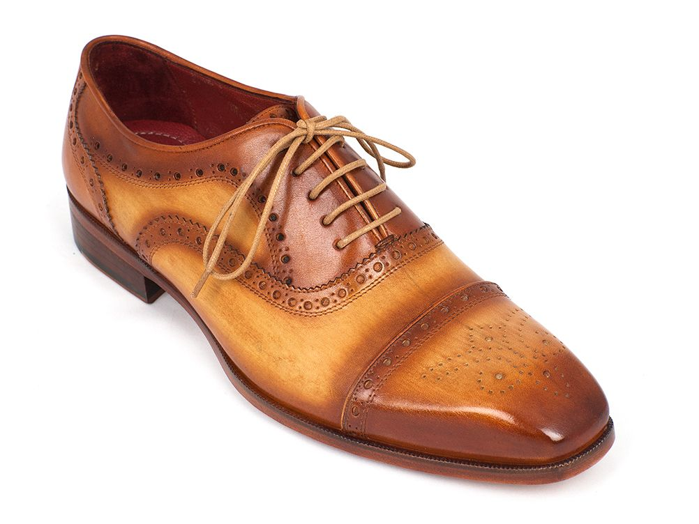 Men's Captoe Oxfords Tan Color