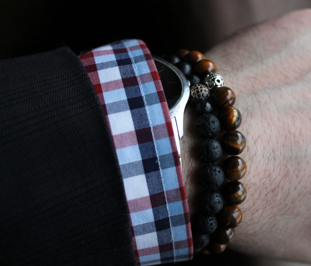 Men's Tiger Eye Bracelet - Wrist