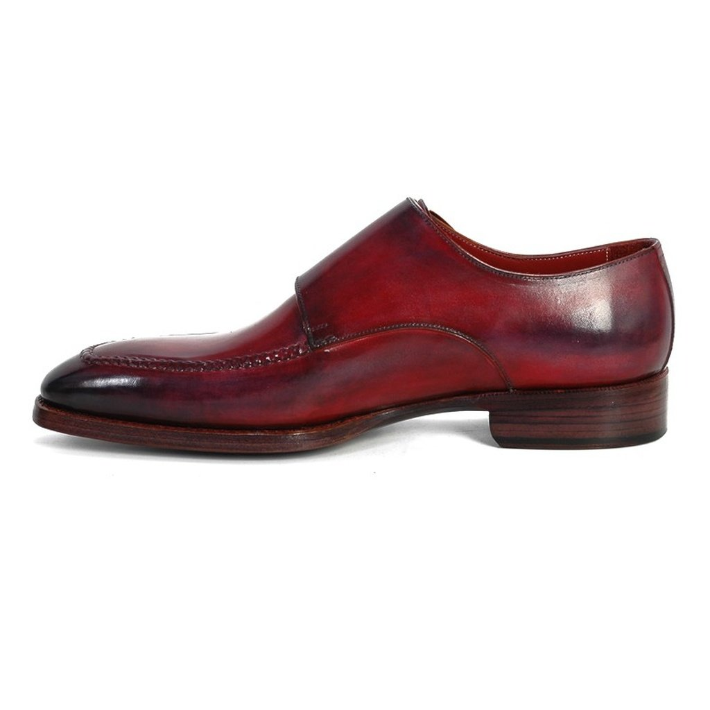 Men's Double Monkstrap Shoes Black & Bordeaux