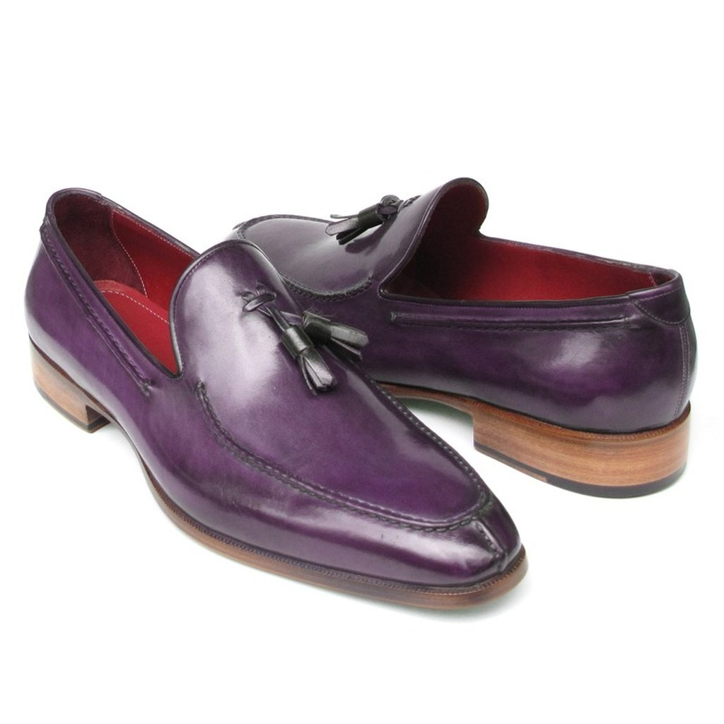 Men's Tassel Loafer Purple Leather