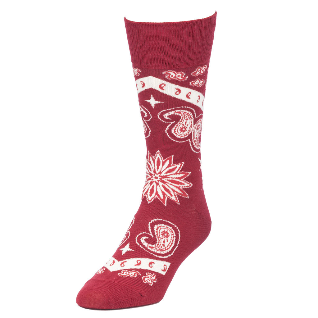 Red Bandana Socks for Men