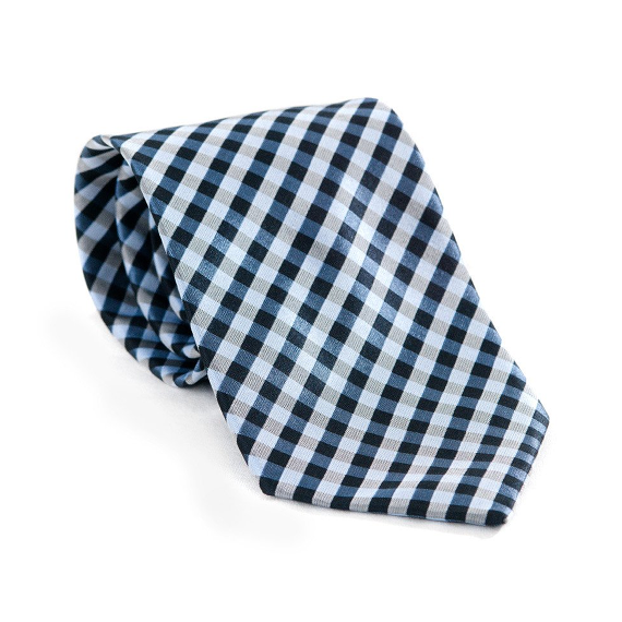 Teal Checkers Necktie - Patyrns