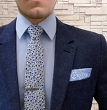 Blue Paisley Pocket Square - The Dapper Juan