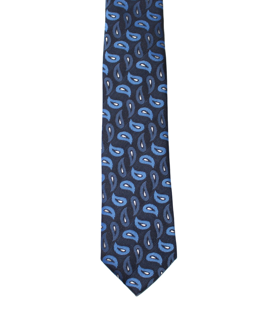Blue Paisley Tie - Front