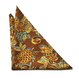 Brown Pineapple Pocket Square - Fold