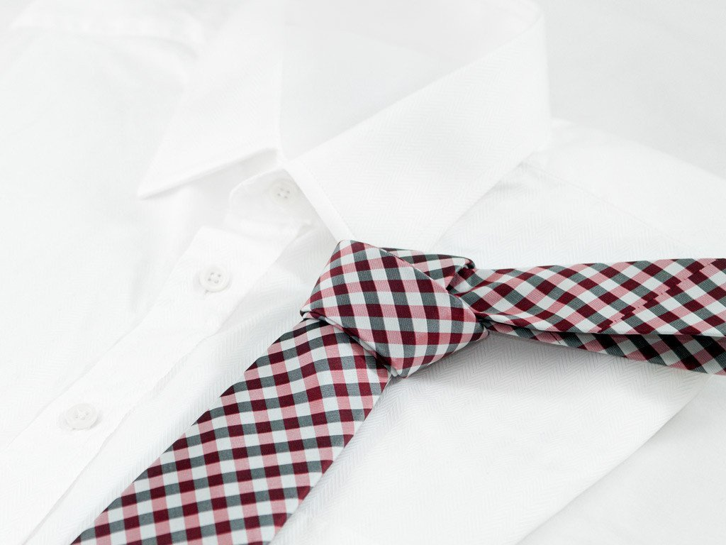Red Checkers Necktie - Shirt