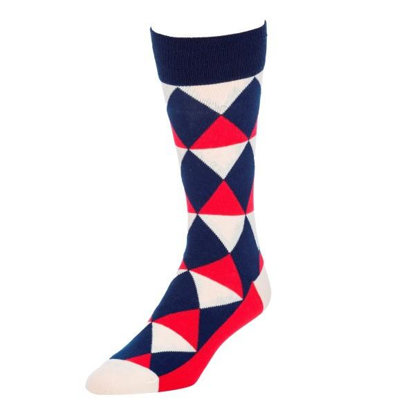 Red, White, and Blue Socks for Men