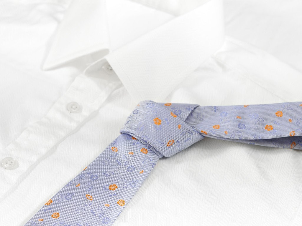 Purple Floral Necktie - Shirt