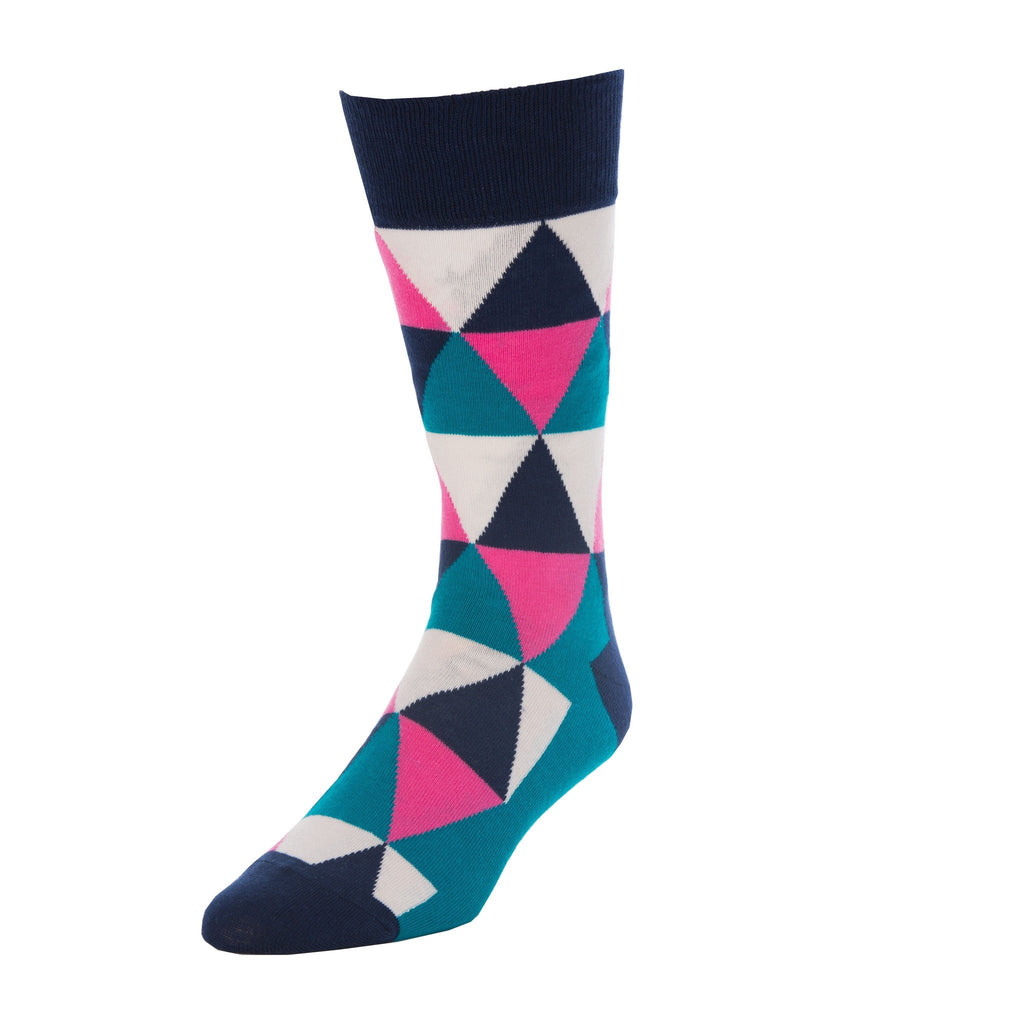 Pink and Teal Socks for Men