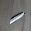 White Pocket Square with Gray Border