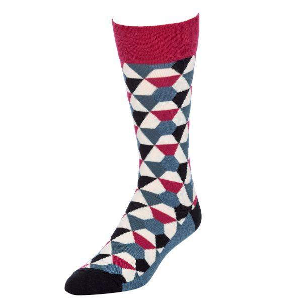 Red Kaleidoscope Socks for Men